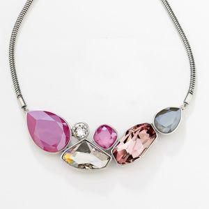Swarovski Crystal by Touchstone Pink Sky Necklace